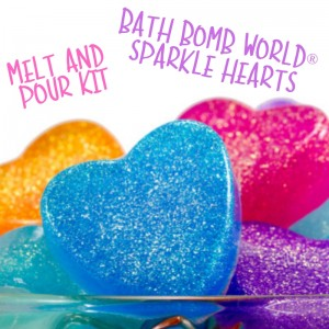 Bath Bomb World® Sparkle Hearts Soap Kit