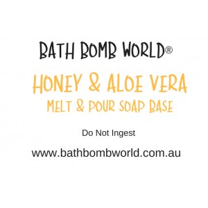 Bath Bomb World® Honey Aloe Vera Melt and Pour Soap Base