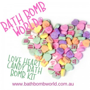 Bath Bomb World® Love Heart Candy Bath Bomb Kit