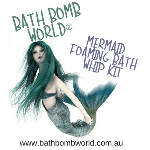 Mermaids Tail Foaming Bath Whip Kit