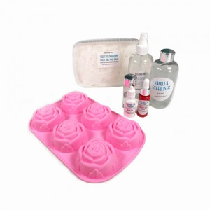 Peppermint Candy Apple Roses Soap Kit