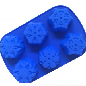 Snow Flake Silicone Soap Mould