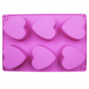 Heart 2  Silicone Soap Mould