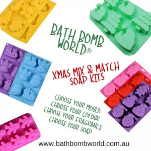 Bath Bomb World® Mix and Match Melt and Pour Xmas Kits