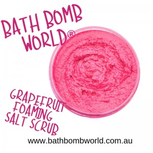 Bath Bomb World® Foaming Salt Scrub