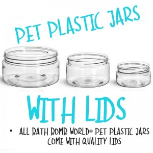 PET Clear Plastic Jars With Natural Lid