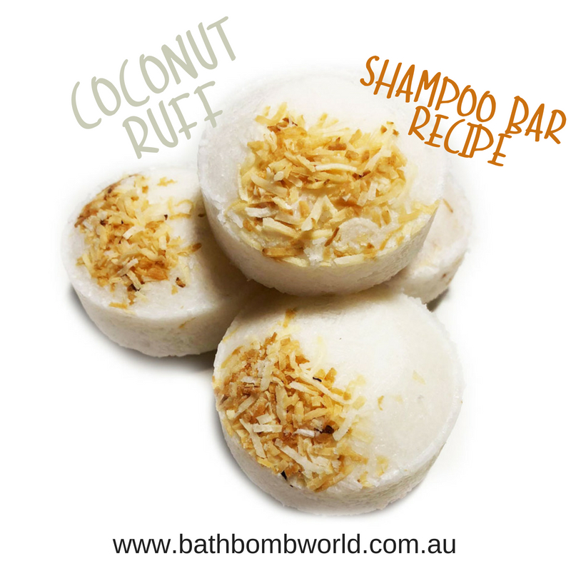 Bath Bomb World® Coconut Ruff Shampoo Bars