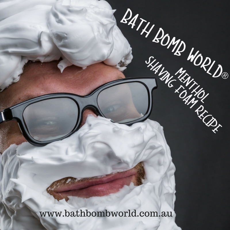 Bath Bomb World Menthol Shaving Foam