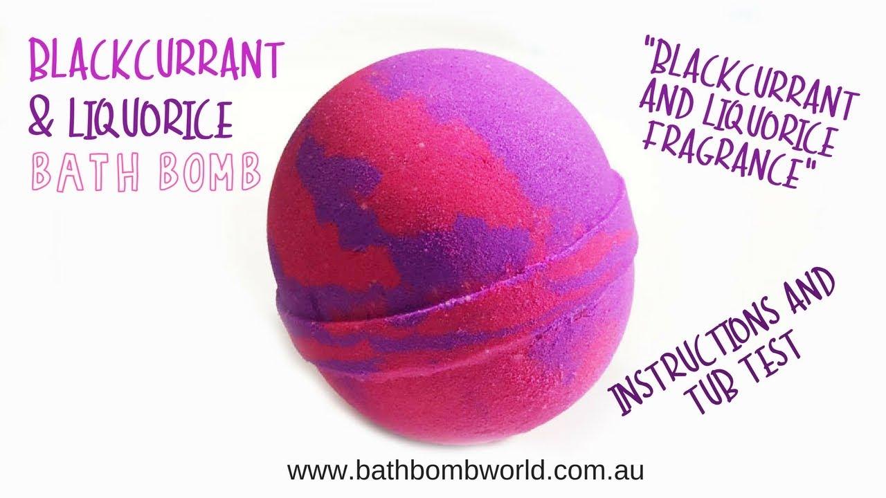 Blackcurrant Amp Liquorice Bath Bombs