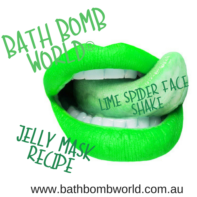 Lime Spider Face Shake Jelly Mask